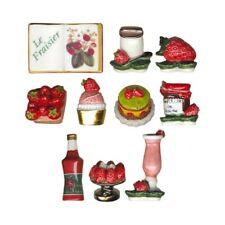 Fèves de collection en porcelaine _ Delices de fraises _ Série complète 10 Feves