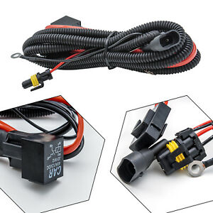 9005 9006 Relay Wiring Harness For Connector Cord Cable Add-On LED Fog Light DRL