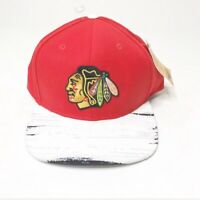 Chicago Blackhawks Fanatics NHL Flat Bill Red Black Snapback Adjustable Hat Cap