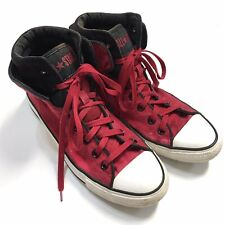 CONVERSE Chuck Taylor All Star Red Canvas Cuff HighTops Mens 9 Womens 11 Unisex