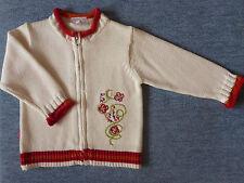 Bestickte Baby-Strickjacken für Mädchen aus 100% Baumwolle