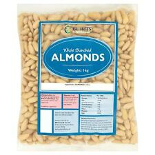 Curtis Whole Blanched Almonds 1kg Suitable for vegetarians