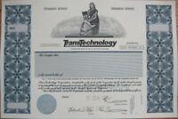 SPECIMEN Stock Certificate: Transtechnology Corporation