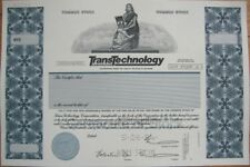 SPECIMEN Stock Certificate: Transtechnology Corporation