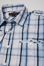 Rockport Shirt medium by Handskull (UK) Short sleeve checked blue white