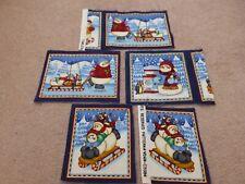 Quilting fabric    5 snowmen panels