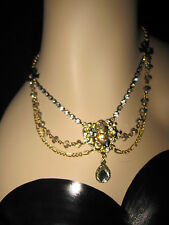 BETSEY JOHNSON ICONIC VINTAGE BETSEY HEART AND BLING AND BOW NECKLACE