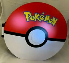 """Large Pokemon Round Plastic Segmented Case with Recessed Handle 12 3/8"""" Wide"""
