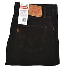 Levi's Mens Jeans Black US Size 34x32 Zip-Fly Denim Classic Straight Leg 786