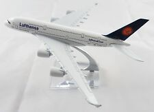 16cm Airbus A380 Jumbo Lufthansa German Airlines Metal Aircraft Plane Model Toy