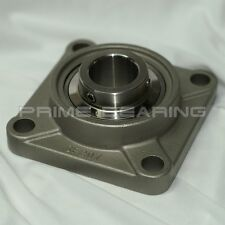 "High Quality!!  SUCSF208-24 1-1/2""  Stainless Steel 4-Bolt Flange Bearing"