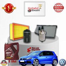 Filtres Kit D'Entretien + Huile VW Golf VI 2.0 TSI Gti 155KW 210CV Partir 2013 -
