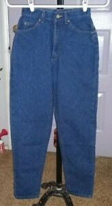 Women's    US made   LL BEAN   Blue  Denim    Jeans  size 4 reg  25 x 30  EUC