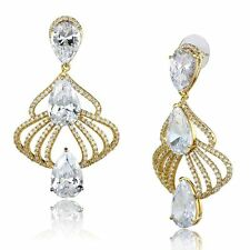 Unbranded Yellow Gold Pear Costume Earrings