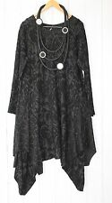 Moonshine ITALY Ballonkleid Tunika Kleid 46 48 50 Schwarz Lagenlook Stretch Neu