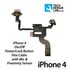 Nuevo iPhone 4 4G de alimentación de repuesto/botón de bloqueo/Interruptor Flex Cable Con Micrófono De Reparación