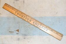 THOMPSON COLLEGE PA PENNSYLVANIA WOODEN ADVERTISING GIVEAWAY RULER RULE 12 inch