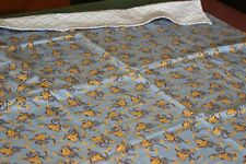 """Handmade  Flannel Receiving / DOUBLE Swaddle blanke~~39 1/2"""" SQUARE--MONKEY"""