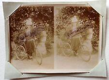 PHOTO 1897 famille GARIN PELTIER LA POSSONNIERE dame à vélo jupe culotte F194