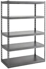 5-Shelf Steel Garage Shelving Rack Unit Ez Connect [72 H x 48 W x 24 D]