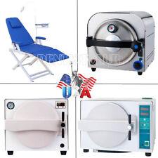 Dental Autoclave Steam Sterilizer Medical Sterilization Dental Chair With Lamp
