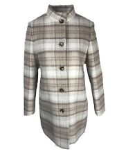 Viyella Womens High Neck geprüft Car Coat Mantel Größe 10