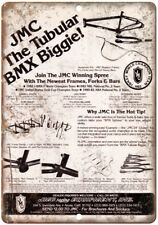 "JMC BMX Racing Fraes Forks Bars Ad 10"" x 7"" Reproduction Metal Sign B459"