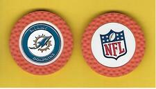 Miami Dolphins Poker Chip Ball Marker Double-sided Team Golf First Edition, NFL