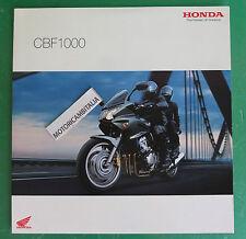HONDA MOTO CBF1000 CBF 1000  PUBBLICITA DEPLIANT CATALOGO BROCHURE