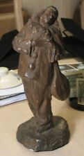 French Sculpture-1890's-Plaster Study-The Troubadour-Signed-High Quality-Sleeper