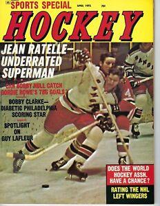 1972 Sports Special Hockey magazine Jean Ratelle New York Rangers VG