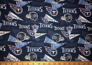 NEW NFL TENNESSEE TITANS COTTON Fabric 1/4yard=9inX44in HELMETS PENNANT DIY MASK