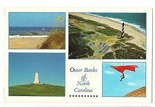 4 Views HANG GLIDING Light House Outer Banks North Carolina NC  Postcard 1993