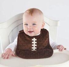 Mud Pie All Baby Boy Sports Brown Minky Football Pocket Bib 1552055