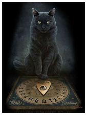 """His Master's Voice Plaque by Lisa Parker 10"""" x 7"""" Black Cat"""
