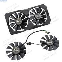 For 1set ASUS STRIX Raptor RX460 / RX560 graphics card radiator T128010SH fan