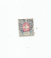 More details for telegraph stamp swiss 50 cent blue and red 1895