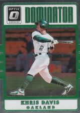 2017 DONRUSS OPTIC KHRIS DAVIS OF OAKLAND A'S DOMINATOR #D12 SP