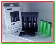 Caricabatterie x Pile Ricaricabili Litio XTAR MC3 + 3 Batterie Sony VTC4 18650