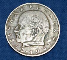 1962-F 2 Deutsche Mark Max Planck, Copper-Nickel Coin