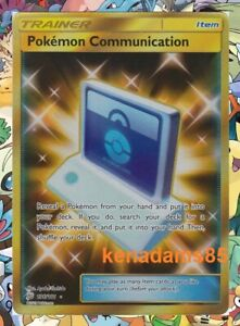 Pokemon SM9 Team Up Pokemon Communication Secret Rare Card 196/181