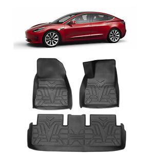 Premium Custom 3D Floor Mats for Tesla Model 3 Car Mats Right Driving Position