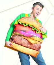 Cheeseburger Costume Halloween Adult Men Child Kids Boy Girl Hamburger Burger