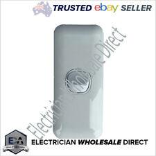 1 Gang Architrave WAFER Light Switch Single WHITE Narrow Arc Slim Arcy