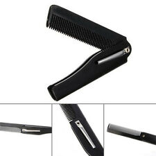 Fashion Men Women Handmade Folding Pocket Clip Hair Moustache Beard Comb