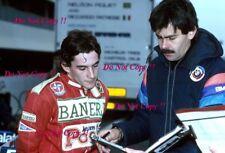 Ayrton Senna & Gordon Murray Brabham F1 Test Paul Ricard 1983 Photograph 1