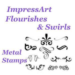 ImpressArt Fiorisce Tema Metallo Timbri Punzoni Strumenti Scegliere Design