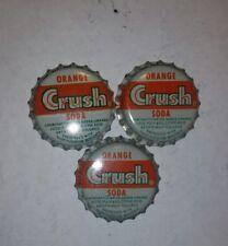 VINTAGE Orange Crush cork unused SODA BOTTLE CAP NOS ( LOT OF 5) NEW