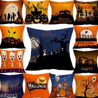 FOR HALLOWEEN Decorative Linen Cotton Throw Cushion Cover Home Decor Pillow Case