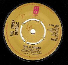 "THE THREE DEGREES Year Of Decision 7"" Single Vinyl Record Philadelphia 1973"